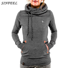 Здесь можно купить  Winter Autumn 2017 Women Hoodies Warm Plush Inside Hooded Sweatshirts Long Sleeve Pockets Casual Slim Pullovers Plus Size S-5XL