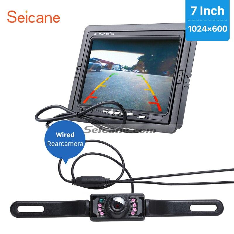 Seicane Universel 7 pouce Moniteur De Voiture DVR TFT LCD Affichage AV Auto Parking Numérique Vidéo Recoder avec Fil Caméra de Recul livraison