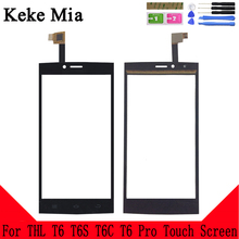 Keke Mia 5.0 For Touch Screen THL T6 T6S T6C Pro Glass Panel Digitizer Sensor Touchpad Front Repair