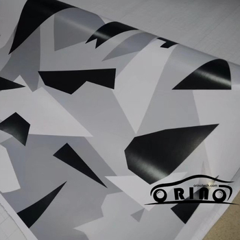 ORINO Black Grey White Camouflage Vinyl Wrap Film Car Motorbike Scooter Vehicle Sticker Decal Adhesive Wrapping Film