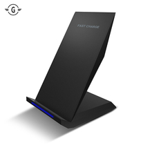 10W 2 Coils Qi Wireless Charger USB Charging Pad for Samsung Galaxy note 8 5 S8 Plus s6 S7 edge Fast Charging Stand Dock desktop цена