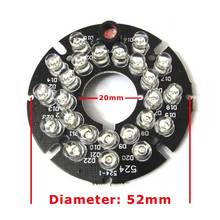 10pcs 24 LEDs 5mm Infrared 90 Degrees Bulbs 850nm 24Leds IR Board Illuminator For CCTV Camera