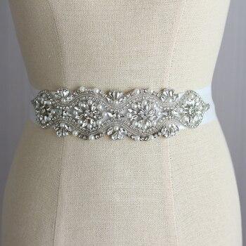 Свадебные платья ремень свадебное Sash люкс кристалл алмаза Невесты ремни Белая Лента свадебные игристые перлы rhinestone пояса