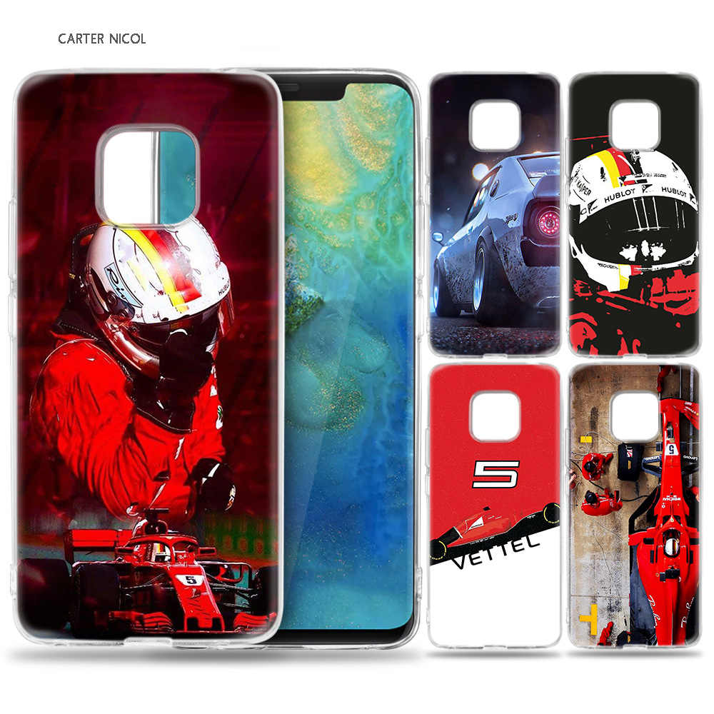 Case for Huawei Mate 10 20 Pro P10 P20 P30 Honor 10 8X 8C 8A Lite P Smart Y6 Y7 2018 2019 V20 Sebastian Vettel