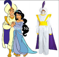 Cutomized costume The hot movie Aladdin Lamp Costume Prince Aladdin costume for adult man's party costume