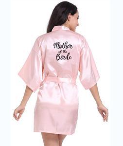 Image 4 - Personalisierte gedruckt Braut Partei Roben Brautjungfern mutter der braut bräutigam maid of honor Hochzeit Tag geschenk satin robe