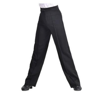 New Arrival Discount On Sale Black Satin Boys or Men Latin Modern Ballroom Performance Dance Pants