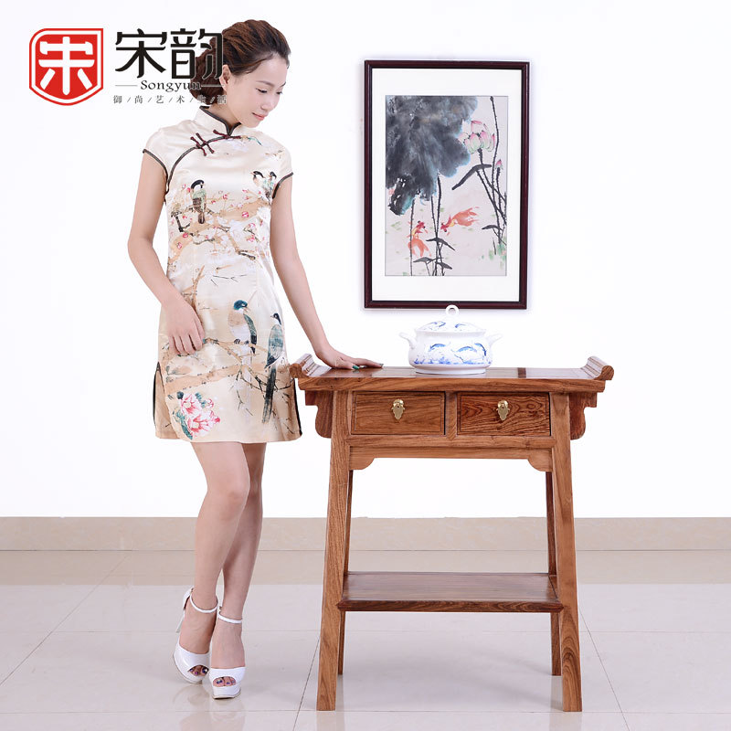 Song Yun A Rosewood Mahogany Furniture Wood Case Become Warped Head Of Classical Chinese Antique Altar Altar Side Cabinet