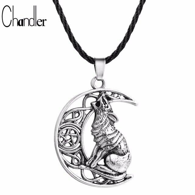 Chandler money wolf celtic moon viking dog necklace pendant chandler money wolf celtic moon viking dog necklace pendant valknut odin s symbol of aloadofball Image collections