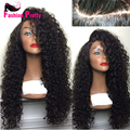 22inch 150Density Kinky Curly Wig Full Lace wigs Human Hair Unprocessed Peruvian Virgin Hair Lace Front Wig For Black Women
