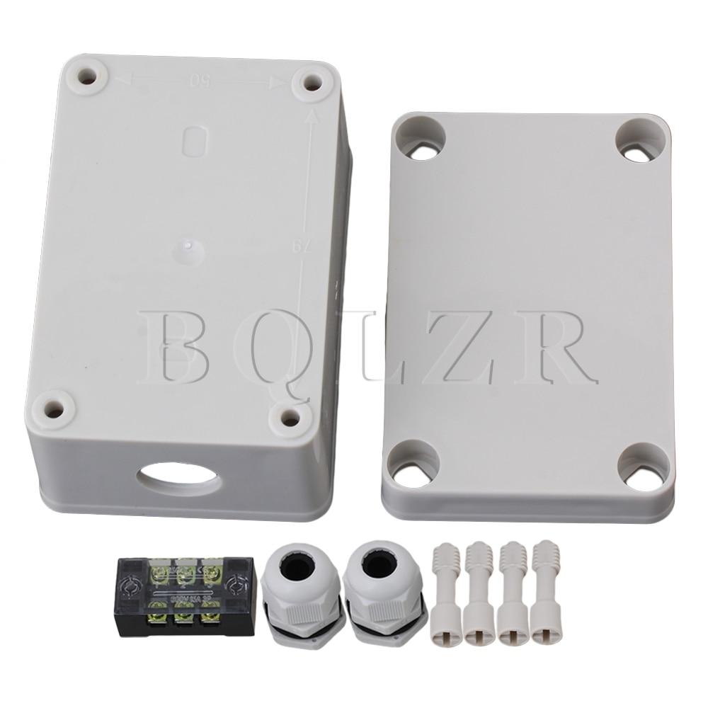 BQLZR 95x65x55mm Waterproof Square Junction Electric Box 3 Position Terminal  цены