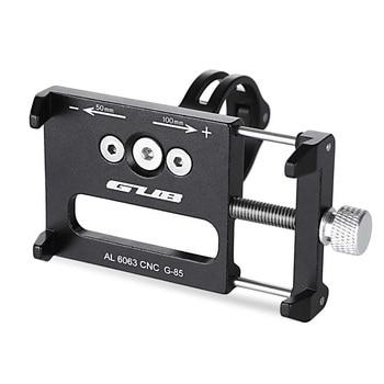 GUB G-85 טלפון סטנד מתכוונן יוניברסל סגסוגת אלומיניום אופניים אופני כידון עבור 3.5-6.2 inch Smartphone