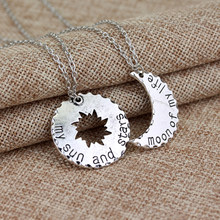 His Hers Khal Khaleesi Pendant Necklace Game Of Thrones Necklace Moon Of My Life My Sun And Stars Couple Necklace For Lovers(China)