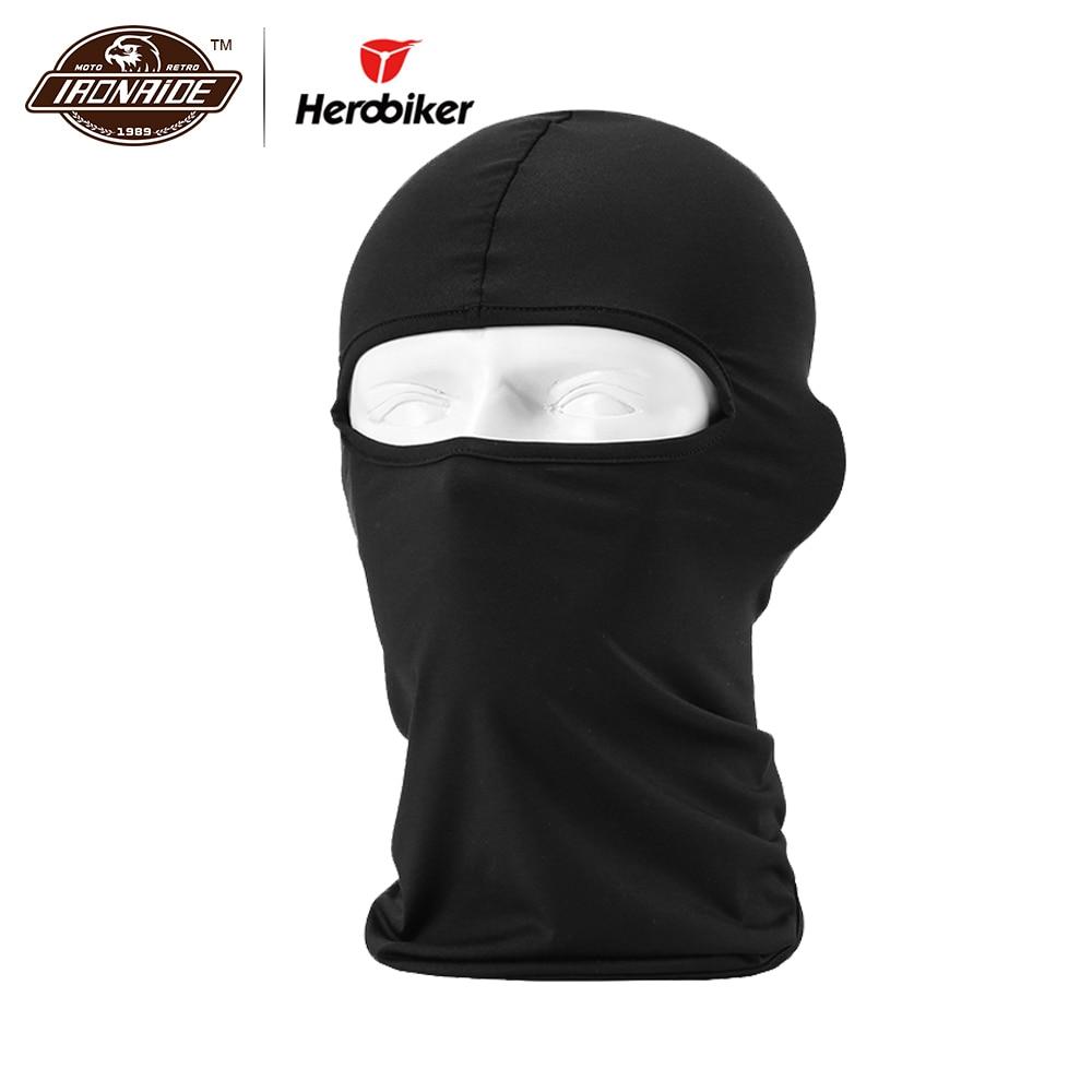 HEROBIKER Black Motorcycle Face Mask Moto Balaclava Winter Mask Face Shield Cycling Motorcycle Mask For All Seasons,12 Colors
