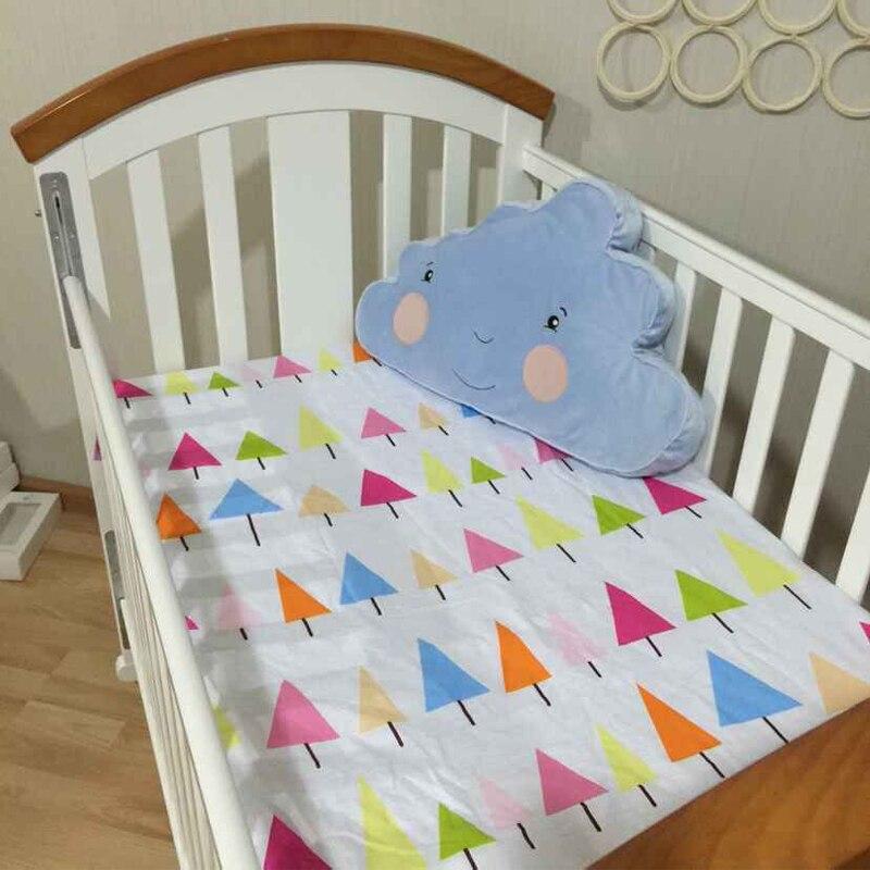 (hoeslaken 1 Stuks) Baby Bed Matras Cover 1 Pcs 100% Katoenen Baby Bed Sheet Voor Baby Meisje Jongens 130x70 Cm