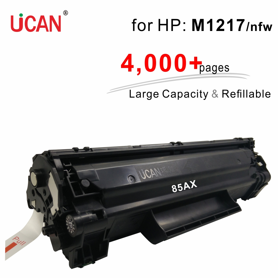 Compatible Hp LaserJet Pro M1217 M1217nfw M1219nf Impresora 85a CE285a UCAN 4000 Páginas Cartucho De Tóner Recargable De Gran Capacidad