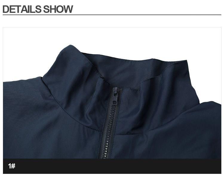 Men Jacket Gosha Rubchinskiy Classic Navy Tricolor Sport Long sleeve Windbreaker Jackets Hiphop Skateboards Couples Outwear S-XL (6)