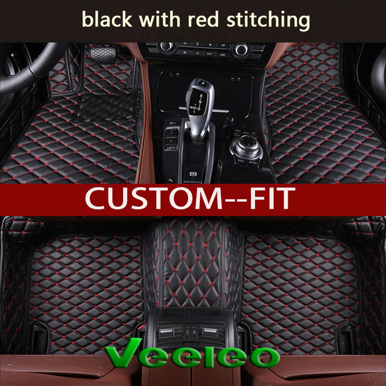 veeleo 6 colors leather car mats for dodge dart 2012 2017 all weather waterproof anti slip auto. Black Bedroom Furniture Sets. Home Design Ideas