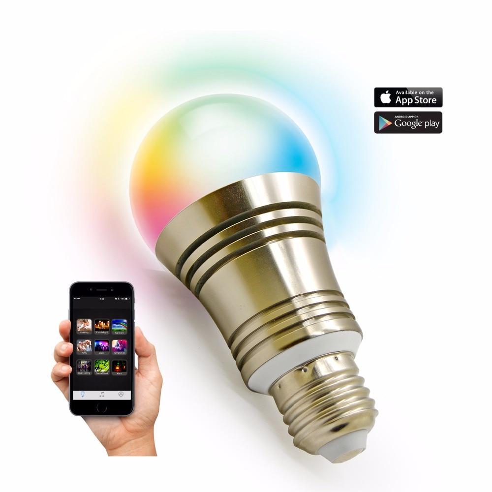 Novelty Bluetooth Smart Bubble Ball Bulb Light Wireless App Speaker 4.0 20m E27 E26 Lamp Android Ios7.0 Night Lampada Led Real