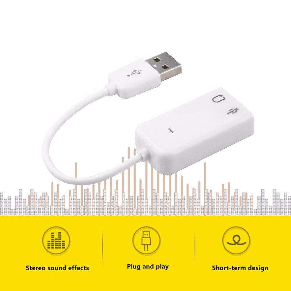 Горячая saleNew настольных ПК USB 2.0 3D виртуального канала аудио адаптер Звуковая карта для Оконные рамы 7/8/10 в наличии