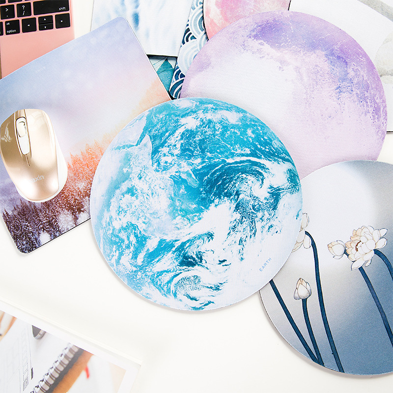 PARASOLANT Personality Star Mouse Pad Soft Pad Thickening Rubber Cushion Small Fresh Round Notebook Computer