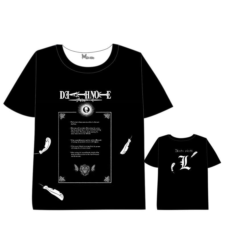 Anime DEATH NOTE T-shirt Men Women Short Sleeve Summer dress death note Cartoon  t shirt