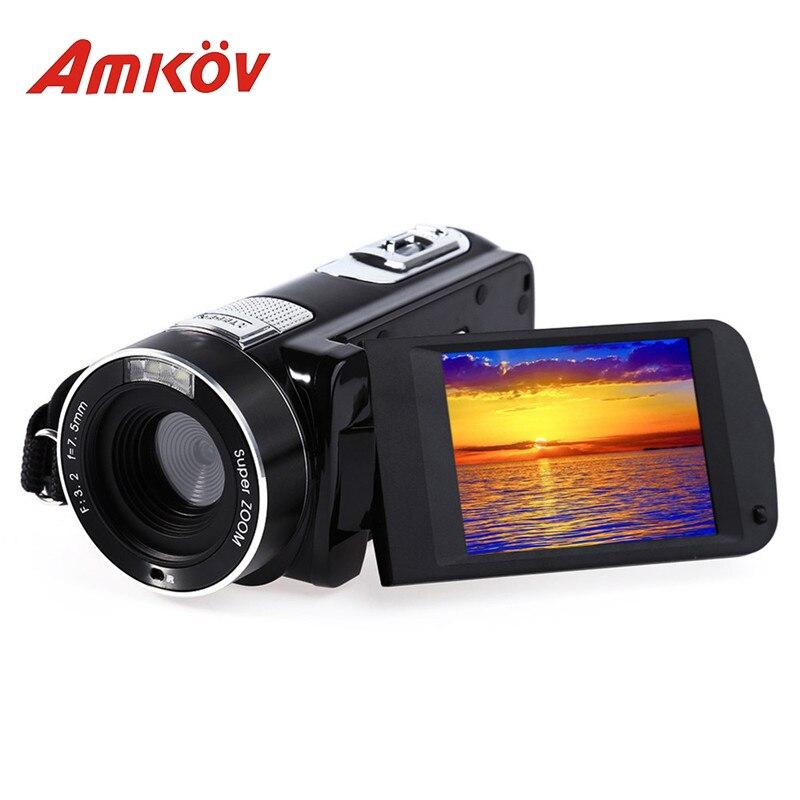Original Amkov AMK DV161 Digital Camera 2.7'' TFT 24MP 720P Support SD Card DV Video Camera Professional Photo Camera HD Camera