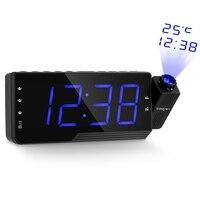 Digital Alarm Clock Projector Clock Radio Alarm Snooze Timer Temperature USB Charge Cable FM Radio Relogio Clock