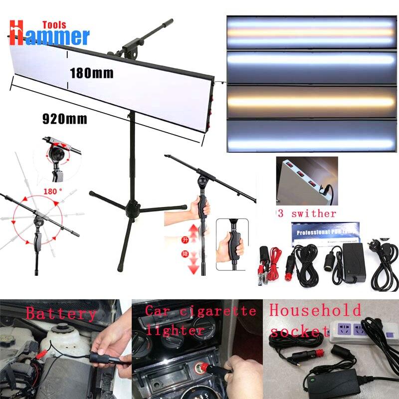 Herramienta de reparación de abolladuras sin pintura Kit de lámpara reflectante Borde 12v PDR tablero de lámpara de rey con soporte ajustable
