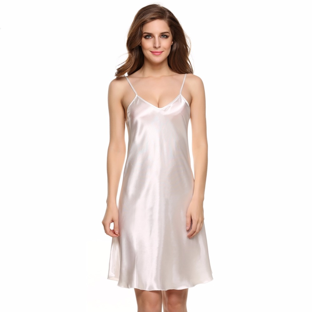 eb1aab5930c Sexy Dress Lingerie 2018 Ladies Sexy Silk Satin Night Dress Plus Size  Erotic Lace Dress for