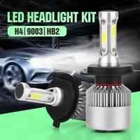 2pcs LED Car Headlight H4 HB2 9003 High Low Beam Auto Headlamp Head Light Lamp DC
