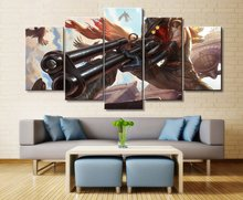 Khada Jhin League of Legends Game Home Decor Picture HD Print Painting Canvas Wall Art 5 Pieces Decoration Living Room