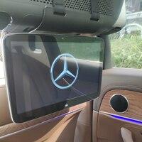 Авто интимные аксессуары av вход выход DVD экран автомобиля подголовники заднего вида стерео Android 7,1 мультимедийный плеер ТВ мониторы для Mercedes