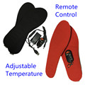 Free shipping 1900mAh Rechargeable Electric Heating Insoles Winter Outdoor Keep Warn With Remote Control Adjustable Temperature