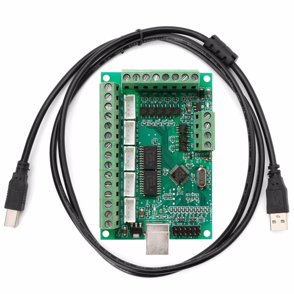 CNC USB MACH3 100Khz Breakout Board 5 Axis Interface Driver Motion Controller  AP16