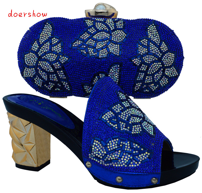 African Style Nicelooking italian matching shoes and bag set ladies shoes and bag to match for nigerian wedding doershow!WTT1-22 hot artist new design summer style shoes and bag set african women shoes and matching bag set for wedding size 38 42 me7709