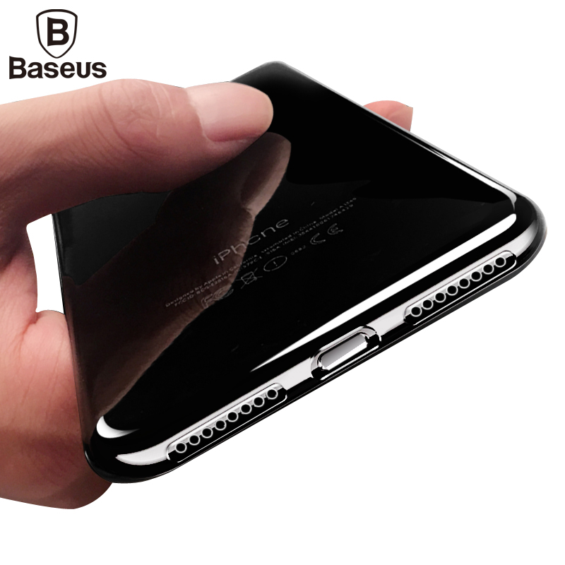 Baseus Ultra Thin Clear Silicone Case For iPhone 7 8 Cover Case With Pluggy Transparent Slim Soft TPU Shell For iphone 7 8 plus