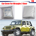 Tampa do carro SUV Anti Guarda Chuva Neve Sol Escudo Tampa Resistente UV Zero Para Jeep Wrangler 2-Door