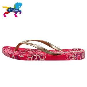 Image 3 - Hotmarzz sandales de plage pour femmes, sandales de plage, tongs florales, chaussures dété