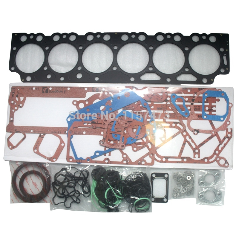 EC240B Engine D7E Overhaul Full Gasket Kit For Volvo Excavator, 3 month warranty new full gasket kit z 5 87814 206 0 for 3lb1 engine mini excavator free shipping