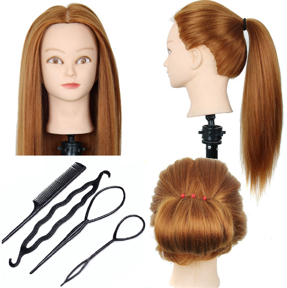 CAMMITEVER Hairdressing Dolls Head with Training Tools Female Mannequin Hairdressing Styling Head High Quality Mannequin Head in Mannequins from Home Garden