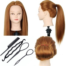 CAMMITEVER Hairdressing Dolls Head with Training Tools Female Mannequin Styling High Quality