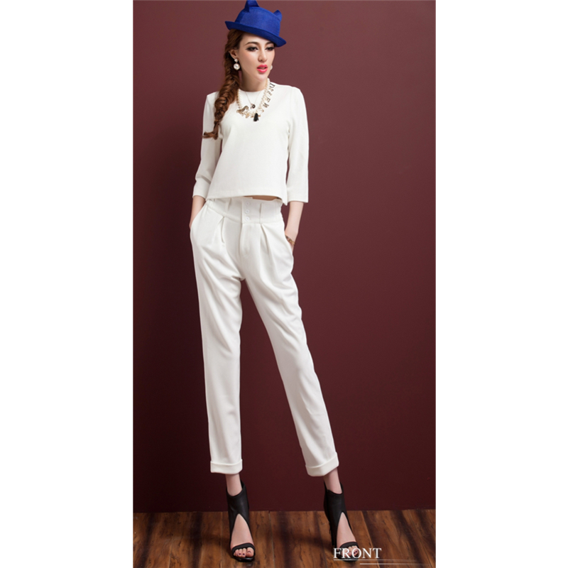 Free shipping 2017 new fashion casual Women s white suit Slim temperament OL occupation White collar