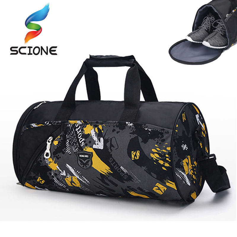 2018 Hot Men Sports Gym Bags Brand Waterproof  Outdoor Women luggage Travel Handbag Men's Sports Shoulder Bags Yoga Duffle Bag