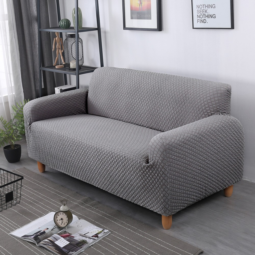 Elastic Fabric Thick Knit Sofa Covers For Living Room