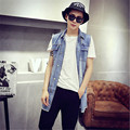New Arrival Denim Vest Men With Jeans Vest Men Sleeveless Denim Jacket Men cotton casual mens jean vest Plus Size M-XL