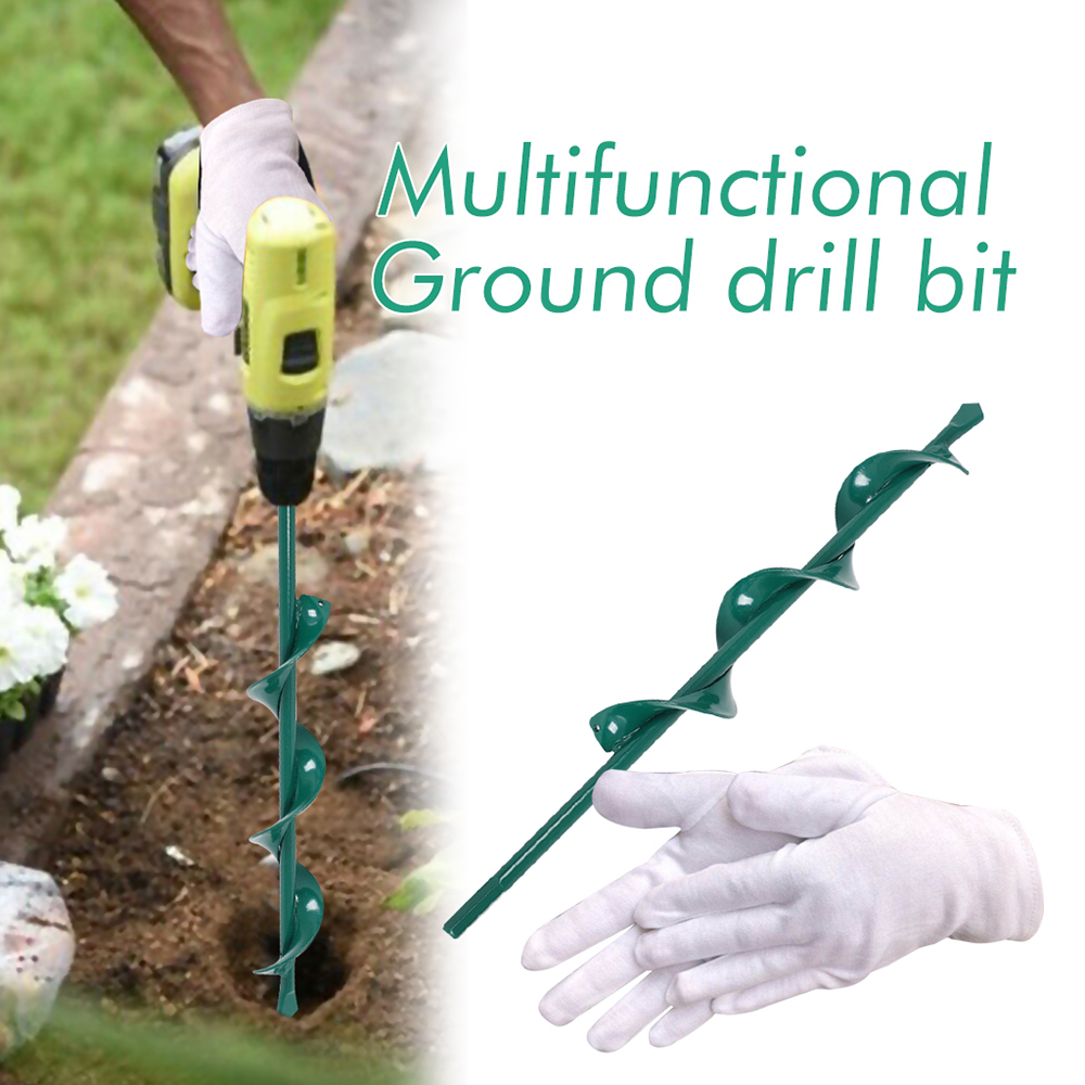 Garden Auger Useful 3 8 quot Drill Bit Planting Irrigation Weeding Steel Tool for Electric Hammer Drill Yard Butler Digger Tool in Drill Bits from Tools