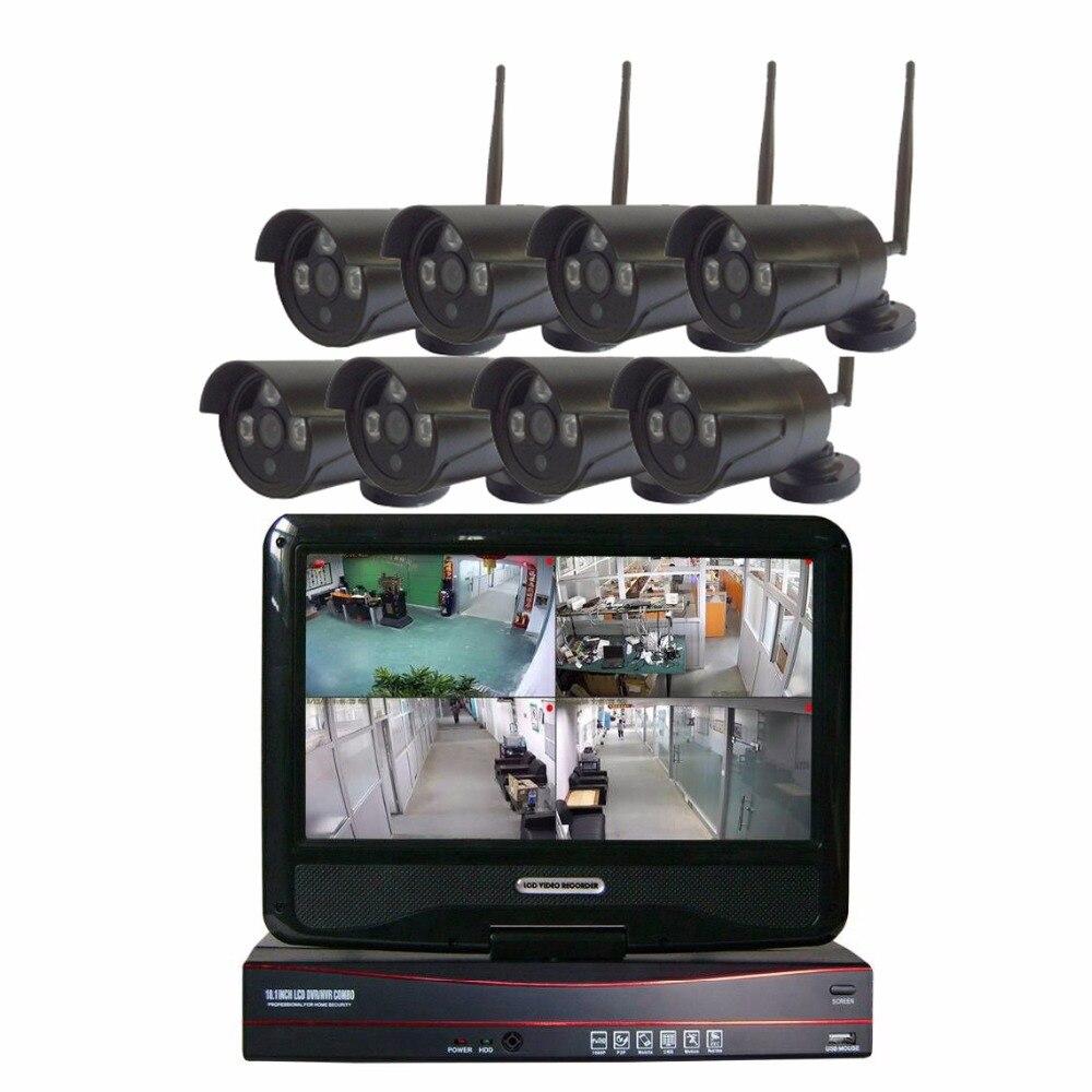 JSA 8CH CCTV System Wireless 960P NVR 8PCS 1.3MP IR Outdoor P2P Wifi IP CCTV Security Camera System Surveillance Kit 2TB HDD zosi 8ch cctv system wireless 960p nvr 8pcs 1 3mp ir outdoor p2p wifi ip cctv security camera system surveillance kit 1tb hdd