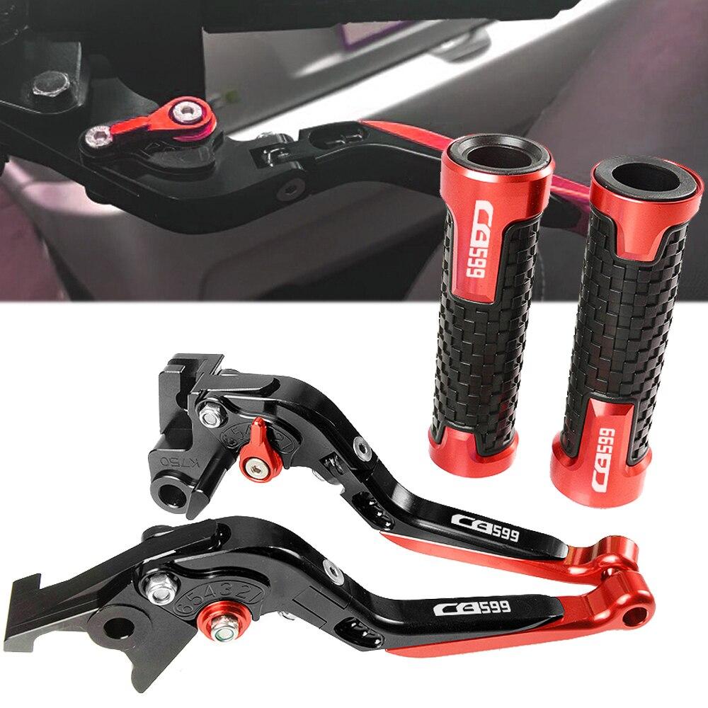 Moto Accessoires CNC Leviers D'embrayage De Frein Pivot Leviers Poignées De Guidon Pour Honda CB599 CB 599 1998-2006 1999 2000 2001 2002