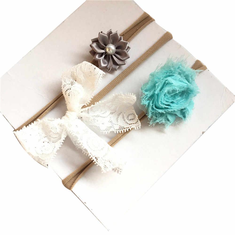 בנות אבזרים לשיער 3 יח'\סט הילדים תינוקת פעוטות Bowknot Hairbands בגימור שיער בנד בארה 'תינוקות בנות השתחוות מוטיבים 2018